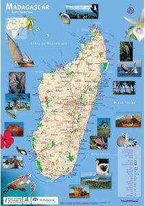 CARTE TOURISTIQUE MADAGASCAR