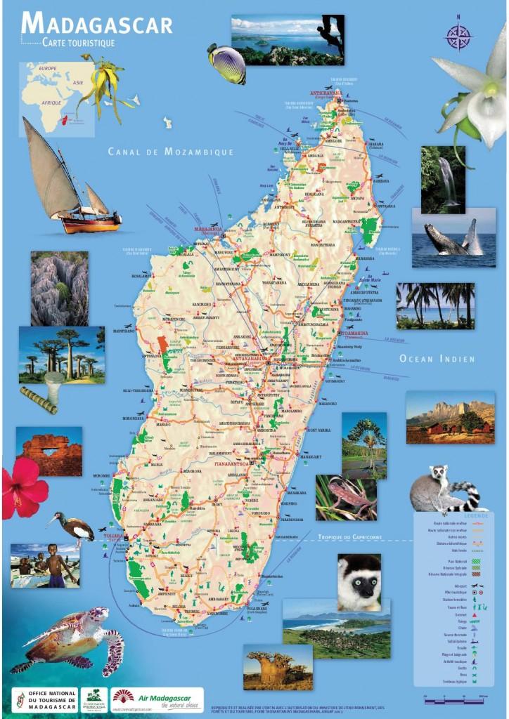La carte touristique de l'ONTM 724X1024