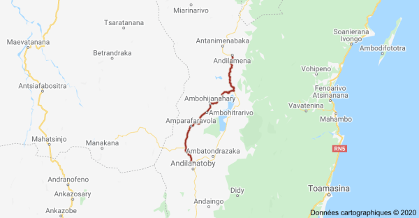 Routes nationales Madagascar RN3A