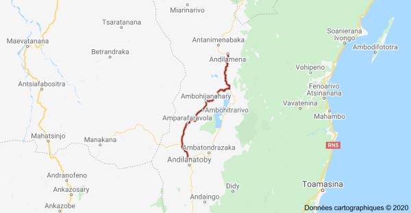 RN3A les travaux de réhabilitation de Manaingazipo