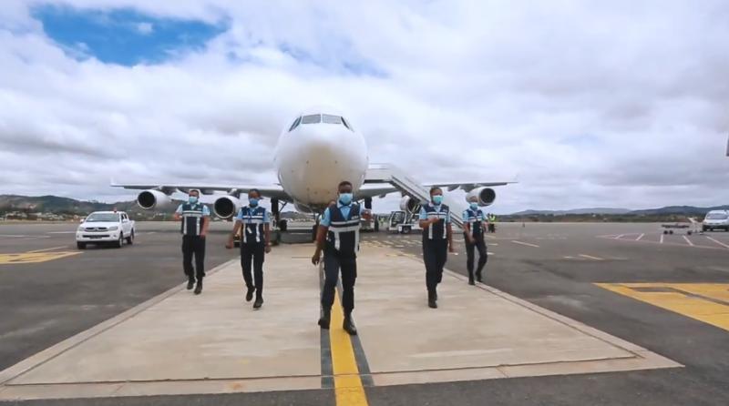 Jerusalema challenge Aéroport Antananarivo