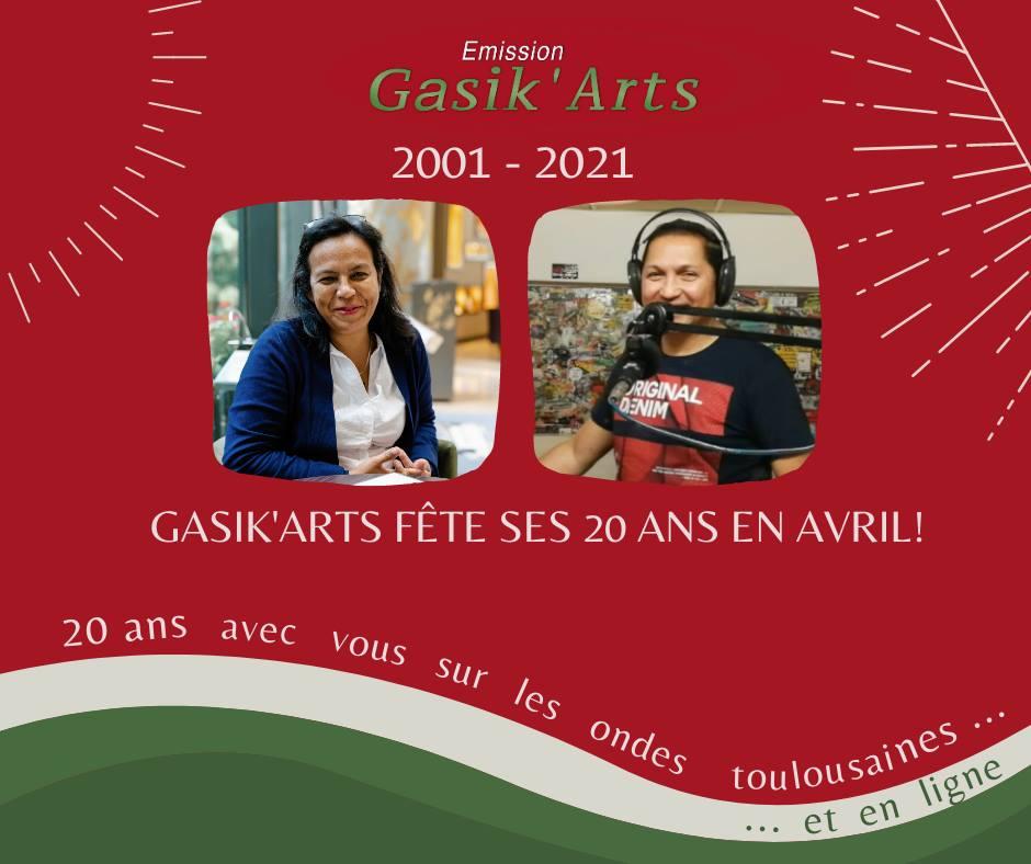 Emission Gasik'Arts Tous les dimanches de 12h à 14h