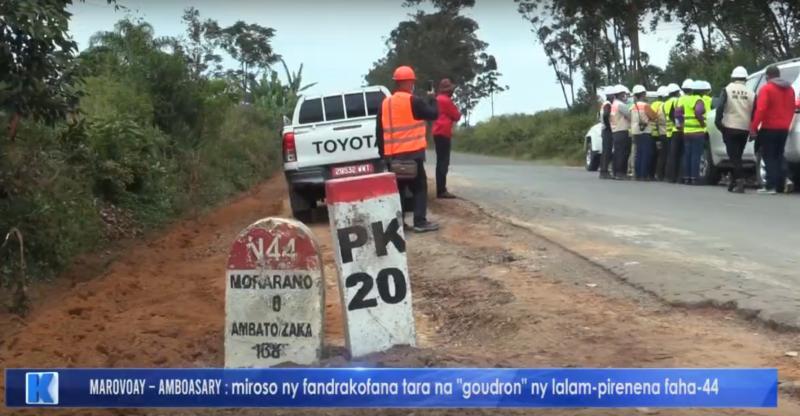 RN44 Ambatondrazaka PK22 l'état d'avancement des travaux au 17 mai 2021 by KOOL TV