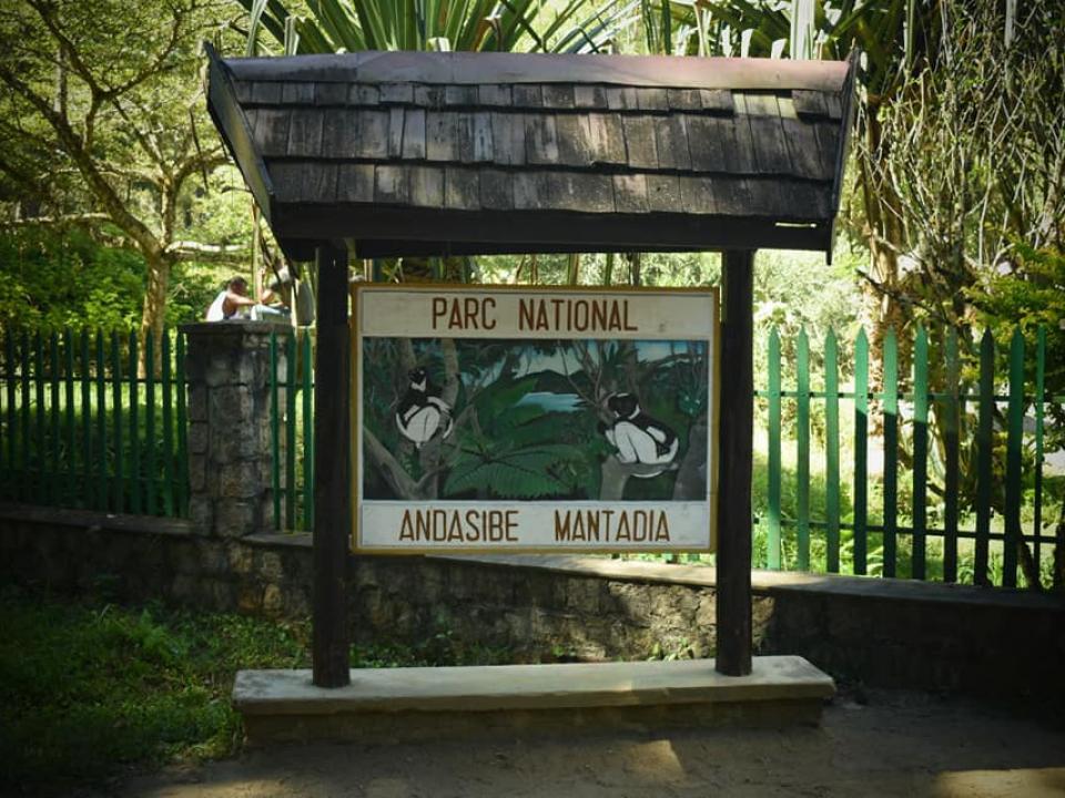 Entrée du Parc National Terrestre Andasibe Mantadia